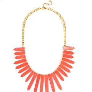 BaubleBar Marble Ra Bib Coral Statement Necklace